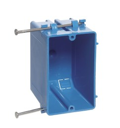 carlon 1 gang blue plastic interior new work standard switch outlet wall electrical box [ 900 x 900 Pixel ]