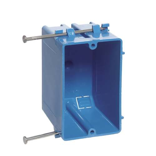 small resolution of carlon 1 gang blue plastic interior new work standard switch outlet wall electrical box