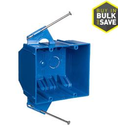 carlon 2 gang blue pvc interior new work standard switch outlet wall electrical box [ 900 x 900 Pixel ]