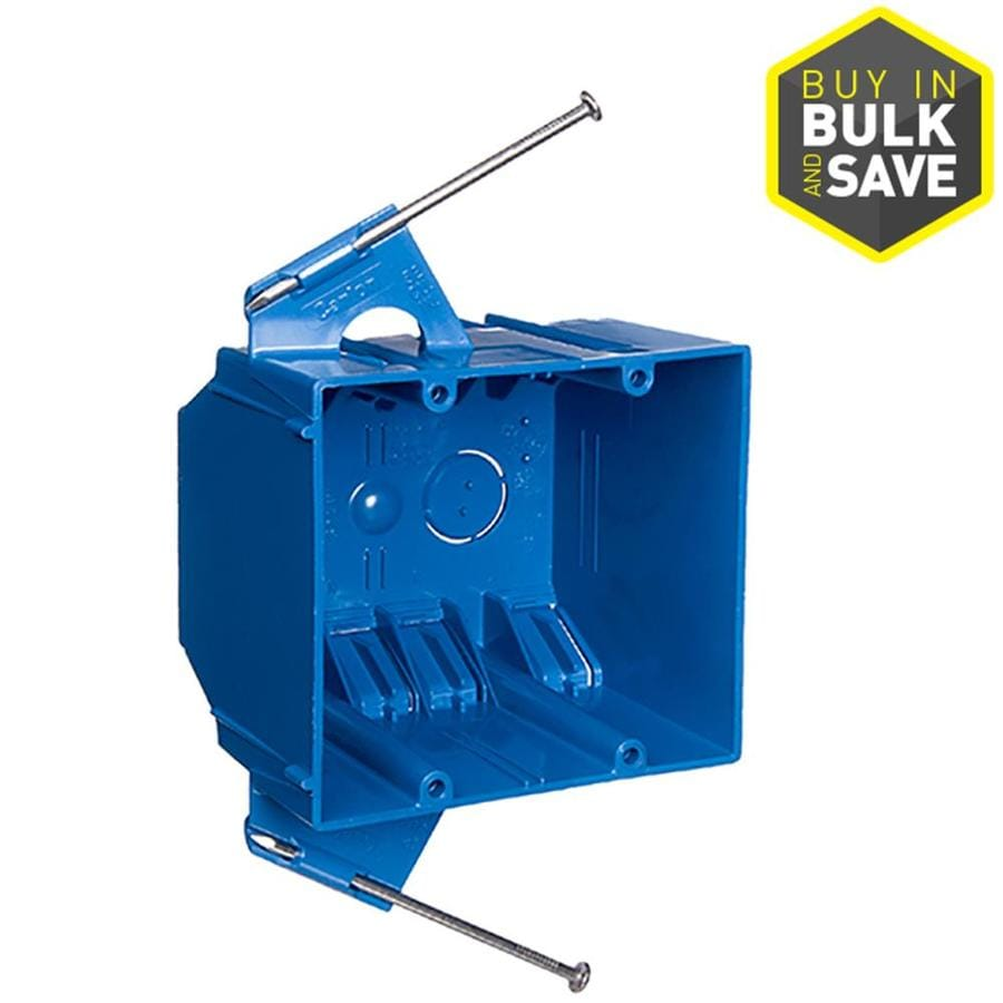 hight resolution of carlon 2 gang blue pvc interior new work standard switch outlet wall electrical box
