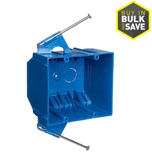 small resolution of carlon 2 gang blue pvc interior new work standard switch outlet wall electrical box