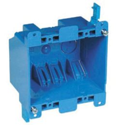 carlon 2 gang blue plastic interior old work standard switch outlet wall electrical box [ 900 x 900 Pixel ]