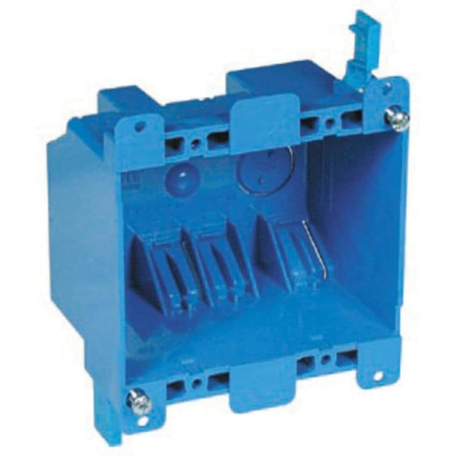 medium resolution of carlon 2 gang blue plastic interior old work standard switch outlet wall electrical box