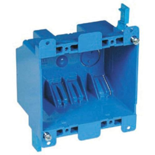 small resolution of carlon 2 gang blue plastic interior old work standard switch outlet wall electrical box