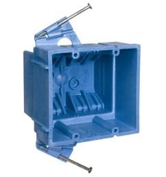 carlon super blue 2 gang blue plastic interior new work standard switch outlet wall [ 900 x 900 Pixel ]