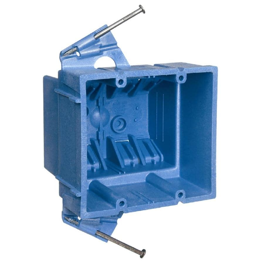 hight resolution of carlon super blue 2 gang blue plastic interior new work standard switch outlet wall