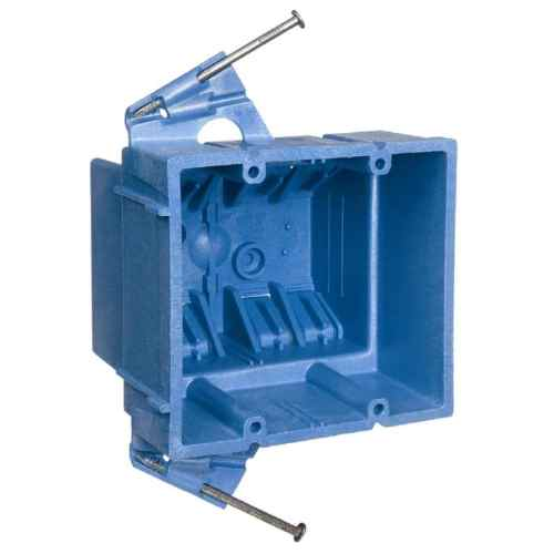 small resolution of carlon super blue 2 gang blue plastic interior new work standard switch outlet wall