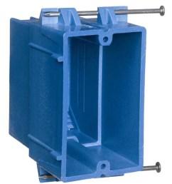 carlon super blue 1 gang blue plastic interior new work standard switch outlet wall [ 900 x 900 Pixel ]