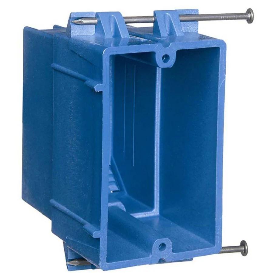 medium resolution of carlon super blue 1 gang blue plastic interior new work standard switch outlet wall