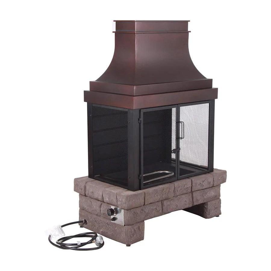 Bond 50000BTU Stone Composite Outdoor Liquid Propane Fireplace at Lowescom