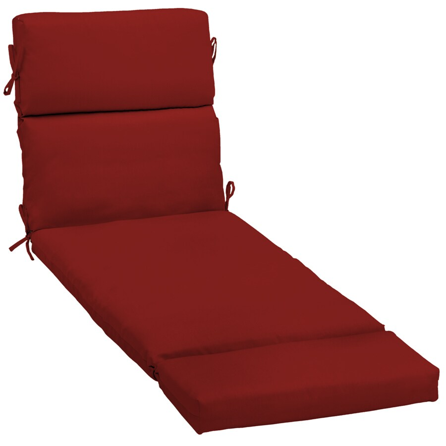 Red Patio Chairs Garden Treasures Red Red Solid Standard Patio Chair Cushion For