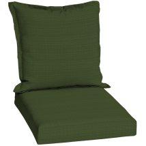 Sunbrella Dupione Palm Green Solid Patio Chair Cushion