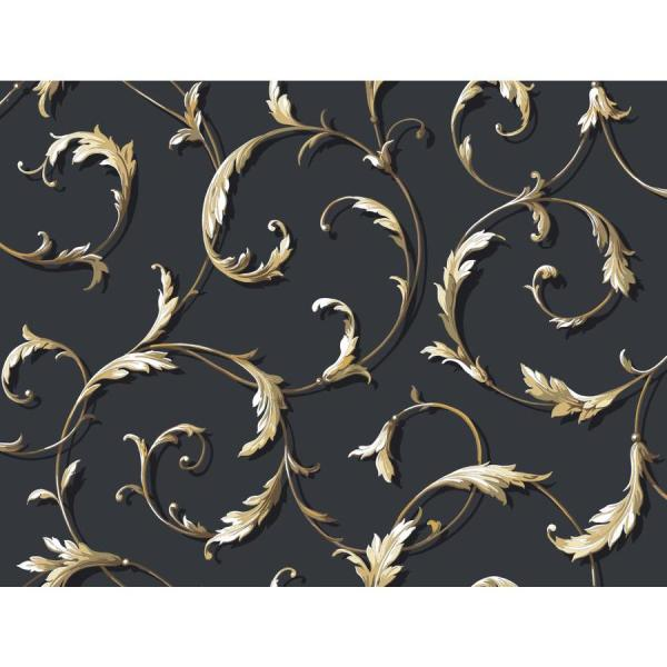 Black and Gold Scroll