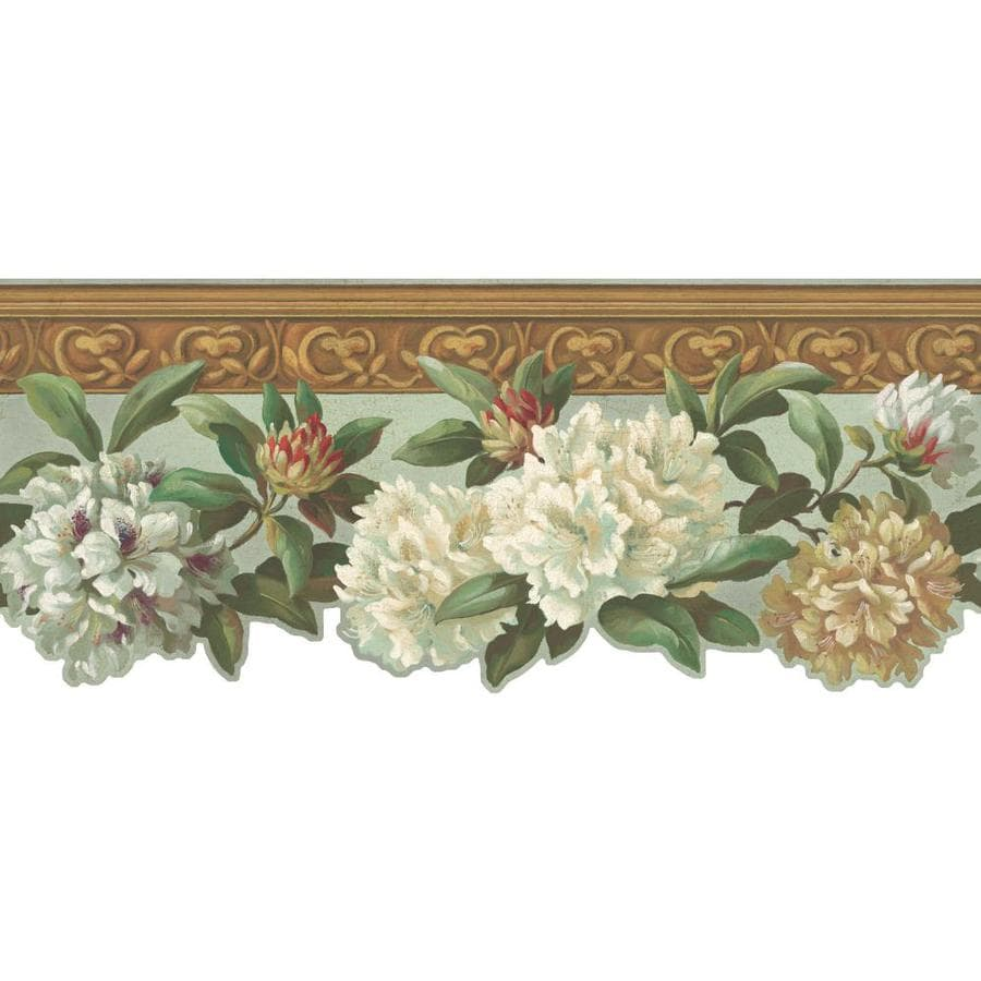 Shop Inspired By Color 975in Multicolor Prepasted Wallpaper Border at Lowescom