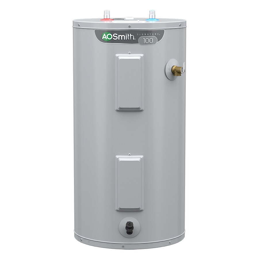 medium resolution of a o smith signature 40 gallon short 6 year limited 4500 watt double element electric water heater