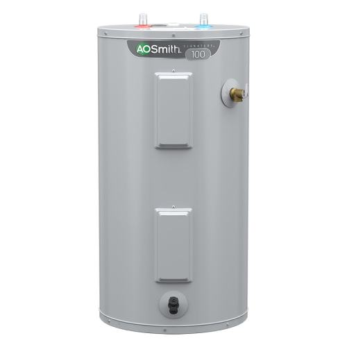 small resolution of a o smith signature 40 gallon short 6 year limited 4500 watt double element electric water heater