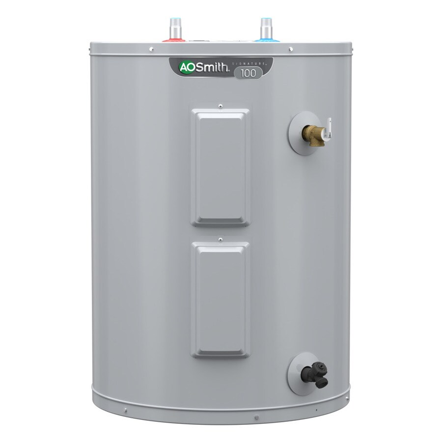medium resolution of a o smith signature 48 gallon lowboy 6 year limited 4500 watt double element electric water heater