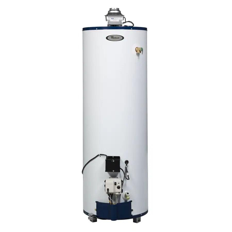 medium resolution of whirlpool 40 gallon tall 6 year natural gas water heater