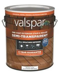 Valspar tintable neutral base semi transparent exterior stain and sealer actual net contents also stains at lowes rh