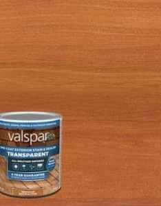Valspar pre tinted redwood naturaltone transparent exterior stain and sealer actual net contents also stains at lowes rh