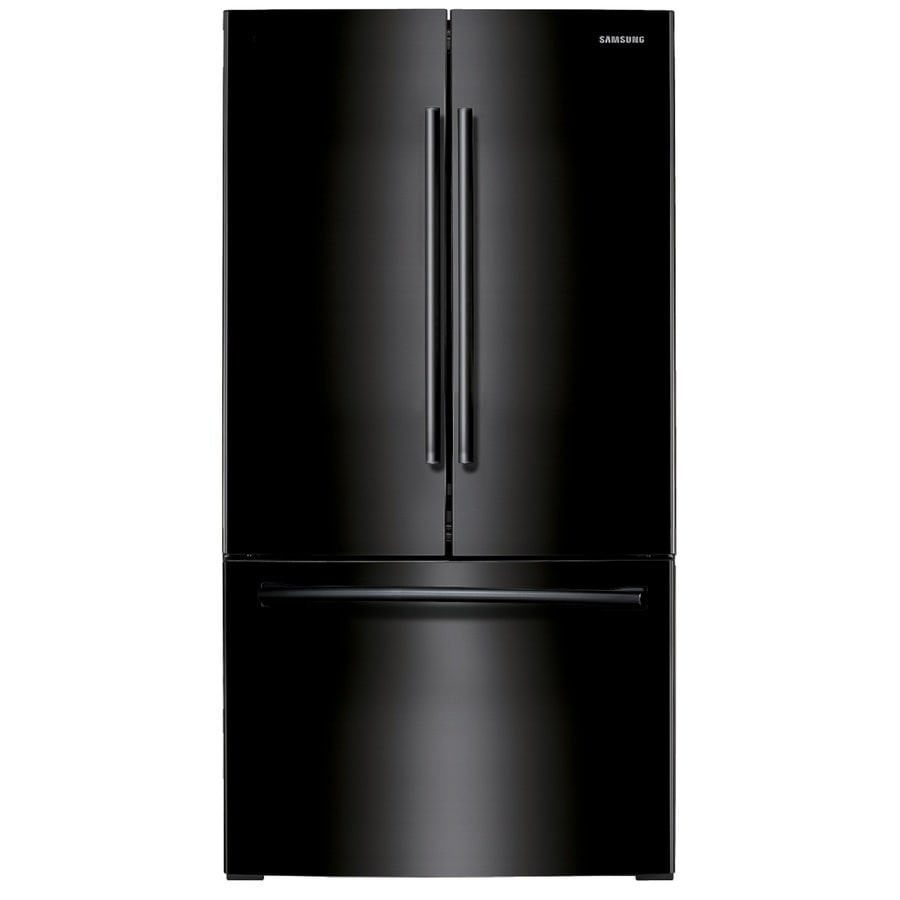medium resolution of samsung 25 5 cu ft french door refrigerator with ice maker black black energy star