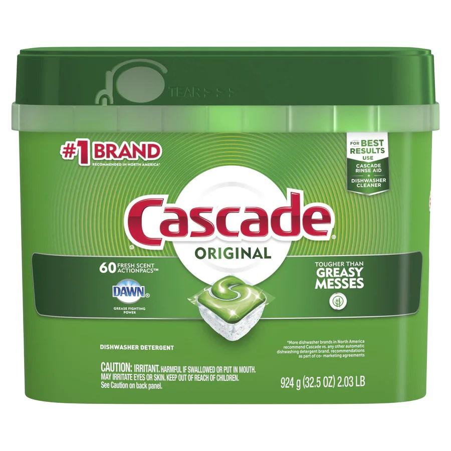 medium resolution of cascade 60 pack regular dishwasher detergent