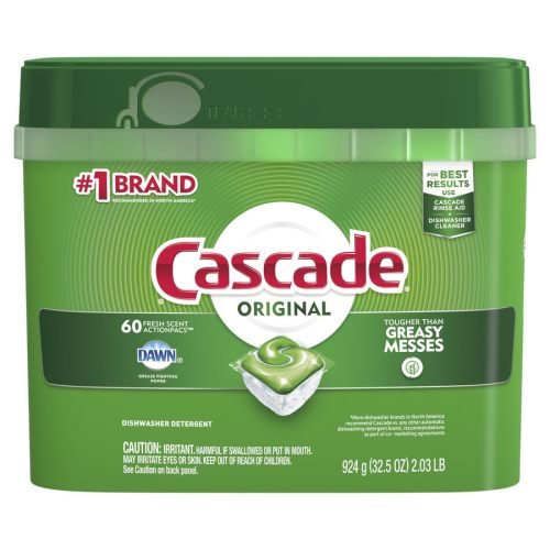 small resolution of cascade 60 pack regular dishwasher detergent