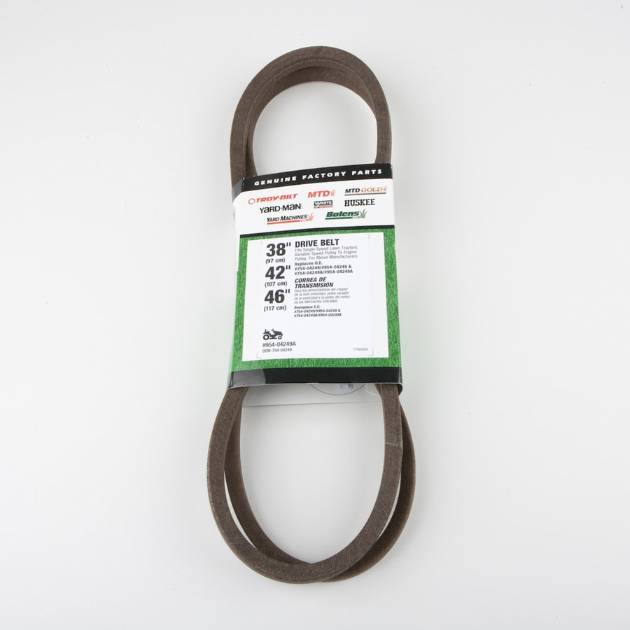 hight resolution of troy bilt 46 in drive belt for riding lawn mowers