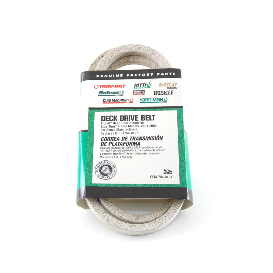 hight resolution of troy bilt 42 in deck drive belt for riding lawn mowers