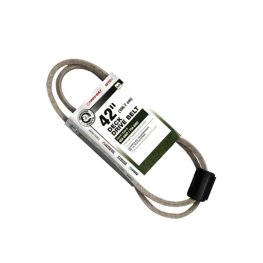 medium resolution of troy bilt 42 in deck drive belt for riding lawn mowers