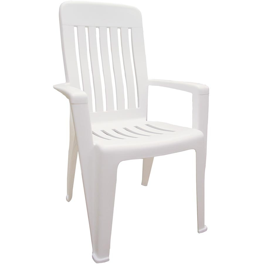 Shop Adams Mfg Corp Stackable White Resin Dining Chair