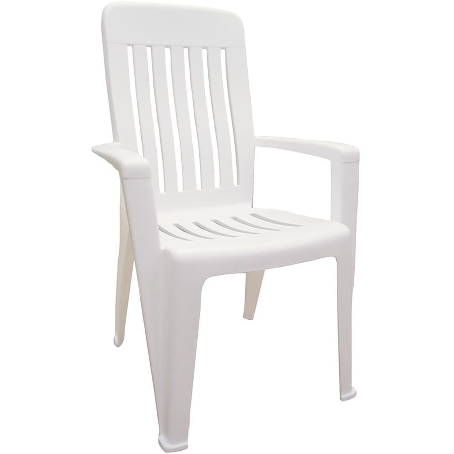 Resin Chairs Adams Mfg Corp Stackable Resin Dining Chair With Slat At Lowes