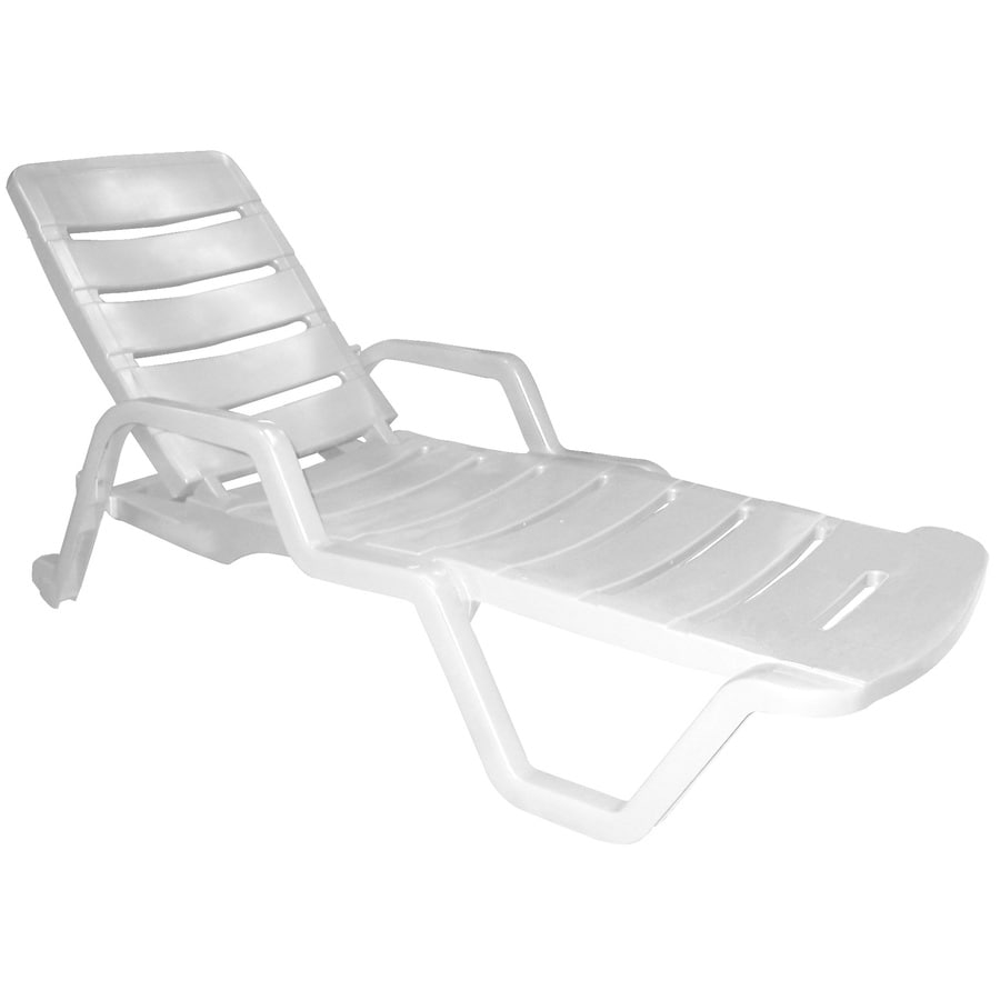 Shop Adams Mfg Corp Stackable White Resin Chaise Lounge
