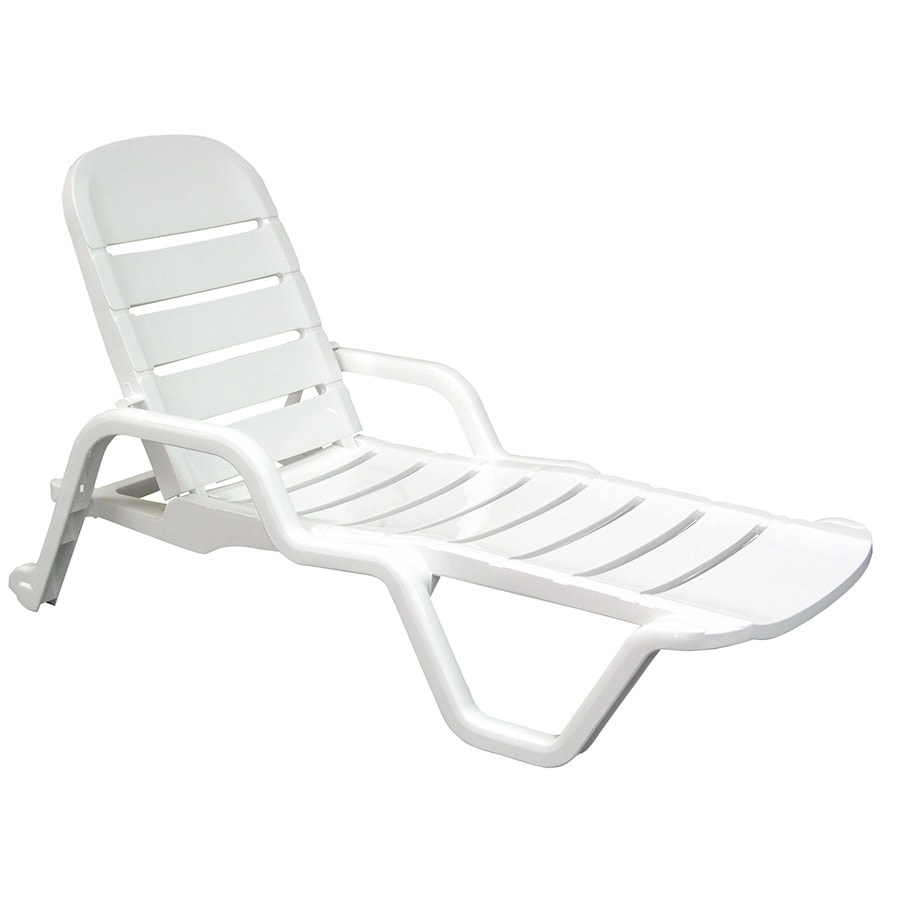 white plastic lounge chairs how to tie someone chair adams mfg corp stackable resin chaise with slat at