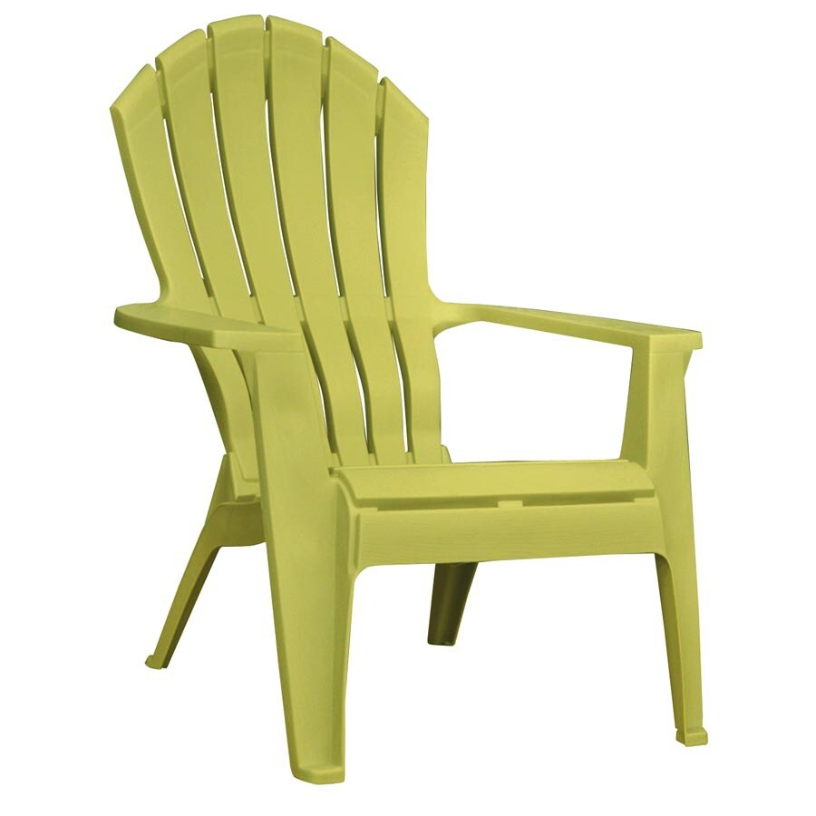 Lawn Chairs Lowes Adams Mfg Corp Green Resin Stackable Patio Adirondack Chair At