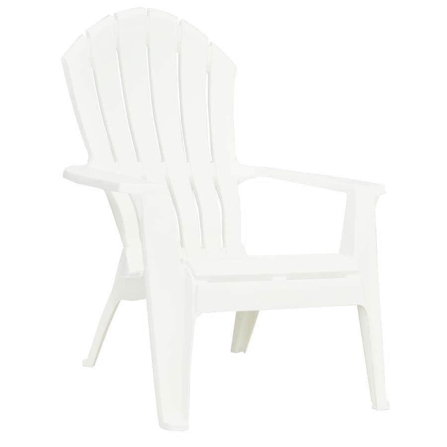 adams manufacturing adirondack chairs polywood mfg corp white resin chair at lowes com