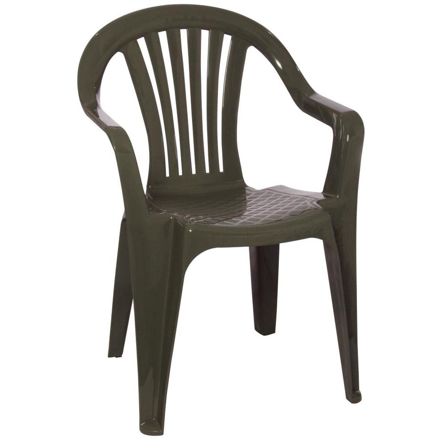 pd adams mfg corp earth brown resin stackable patio dining chair