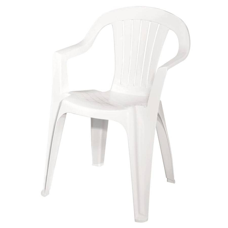 plastic resin chairs posture chair price adams mfg corp white stackable patio dining at lowes com