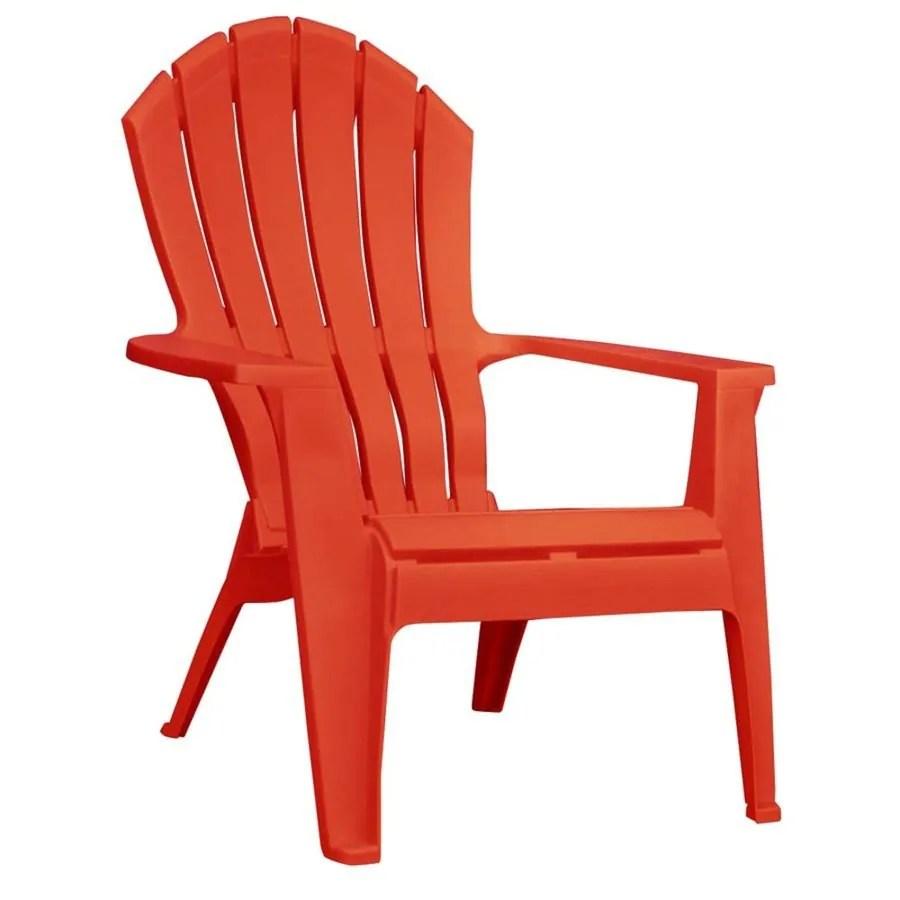Shop Adams Mfg Corp Red Resin Stackable Patio Adirondack