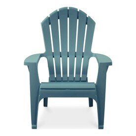turquoise patio chairs zebra print dining plastic at lowes com adams mfg corp stackable resin adirondack chair with slat