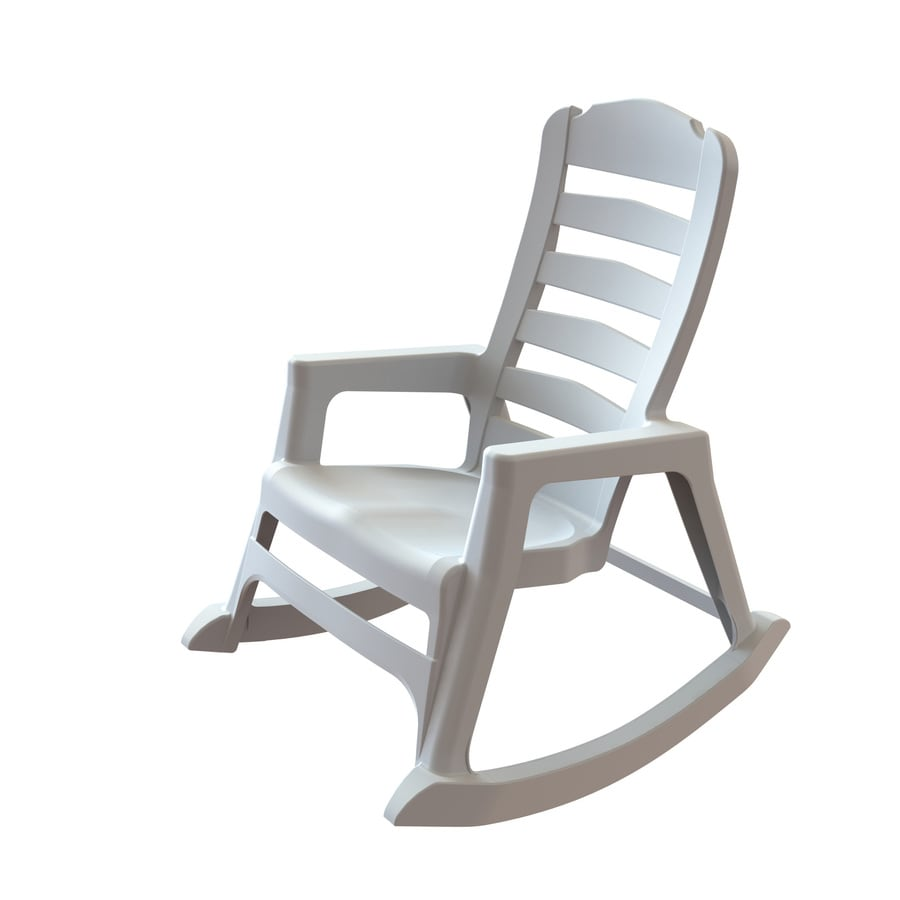 Lowes Outdoor Rocking Chair Adams Mfg Corp Plastic Rocking Chair With Solid Seat At Lowes