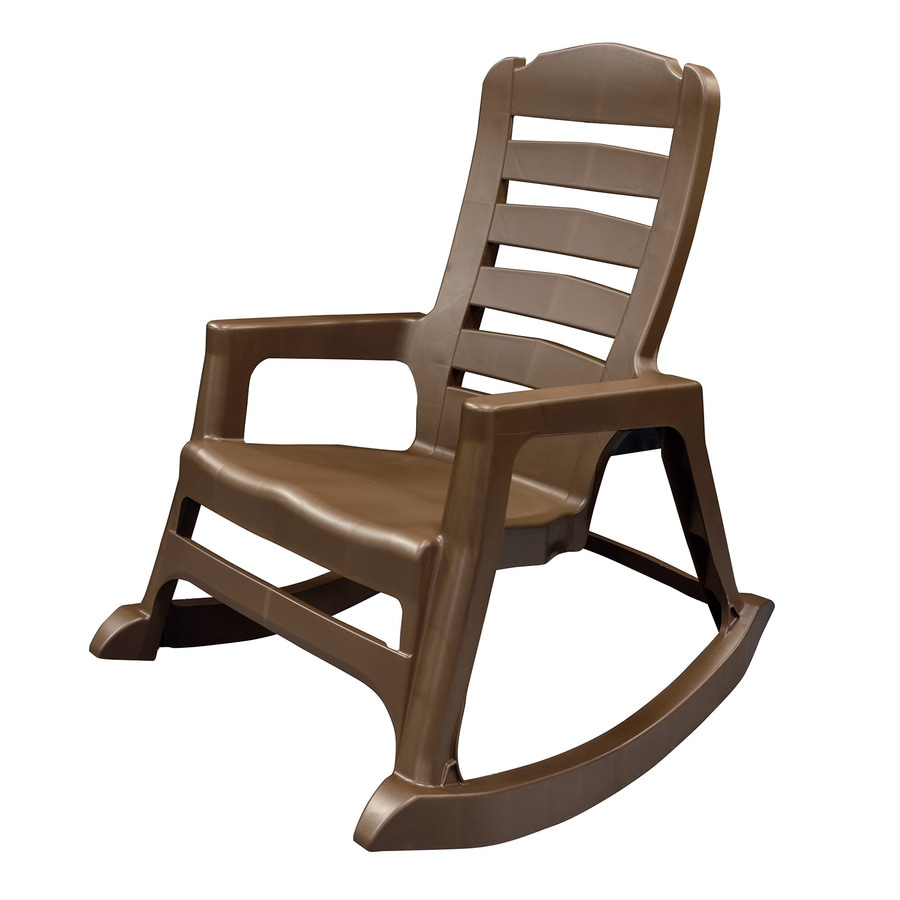 Lowes Outdoor Rocking Chair Adams Mfg Corp Stackable Plastic Rocking Chair With Solid Seat At