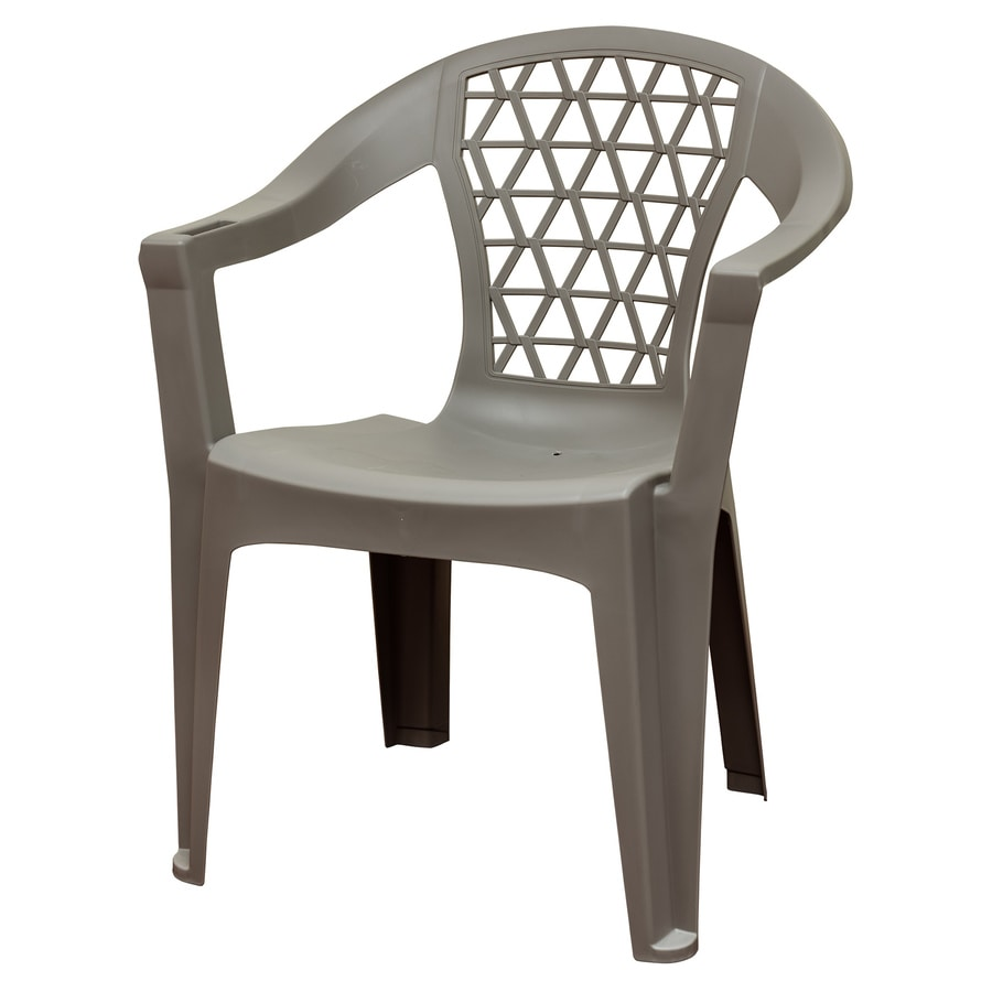 adams manufacturing stackable gray plastic frame stationary dining chair s with solid seat lowes com