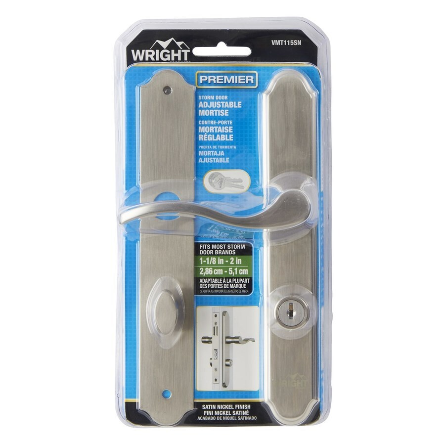 Wright Products 4 In Keyed Satin Nickel Screen Door And
