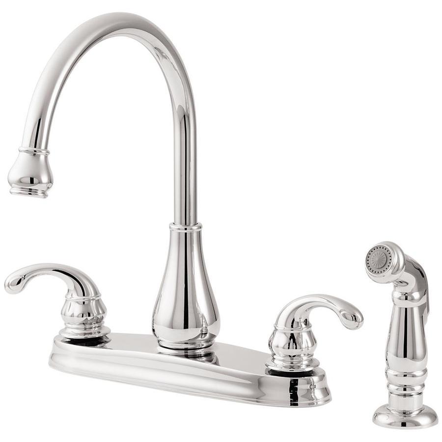 high flow rate kitchen faucets cabinet unit shop pfister treviso polished chrome 2-handle deck mount ...