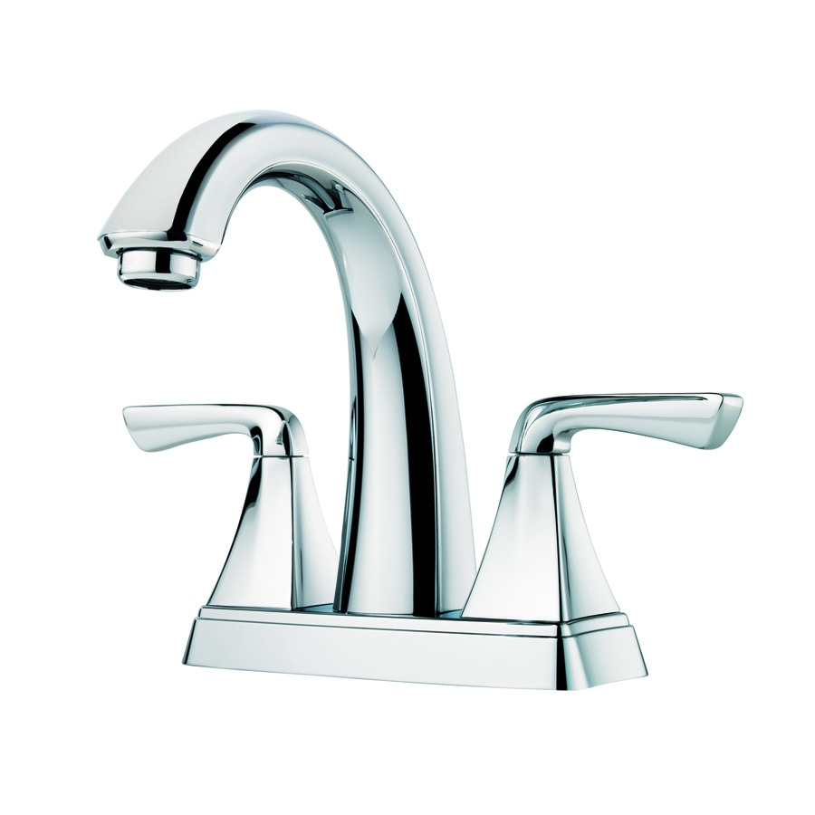 Ideas Bathroom Sink Faucets Pfister Selia Polished Chrome 2 Handle 4 In Centerset Watersense