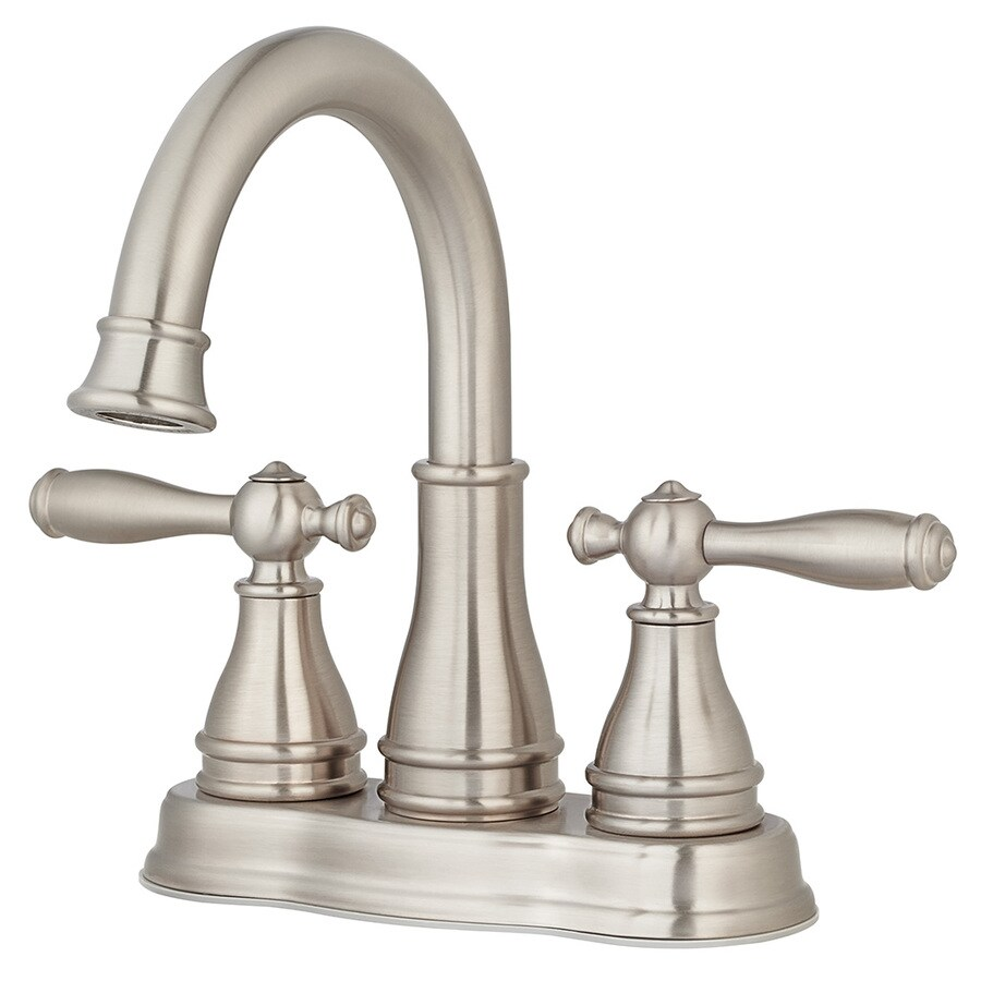 Pfister Sonterra Brushed Nickel 2Handle 4in Centerset WaterSense Bathroom Sink Faucet with