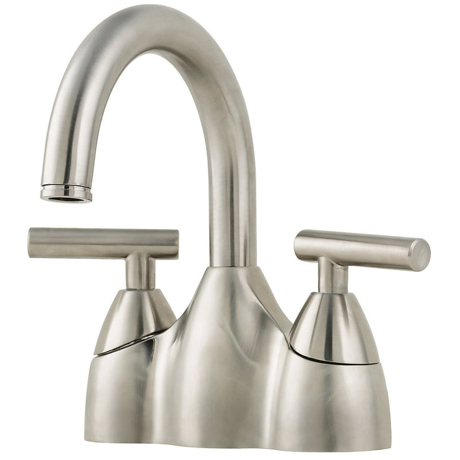 Pfister Contempra Brushed Nickel 2Handle 4in Centerset WaterSense Bathroom Sink Faucet with