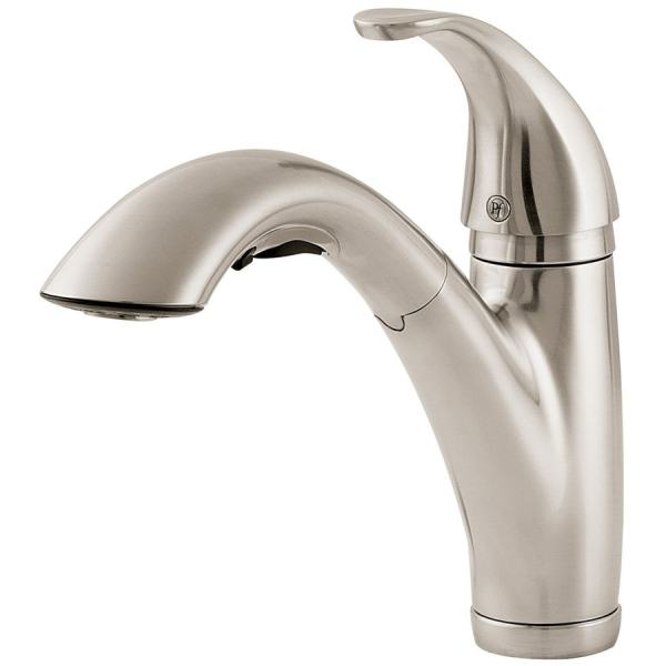 Pfister Parisa Stainless Steel 1-handle Deck Mount Pull- Kitchen Faucet