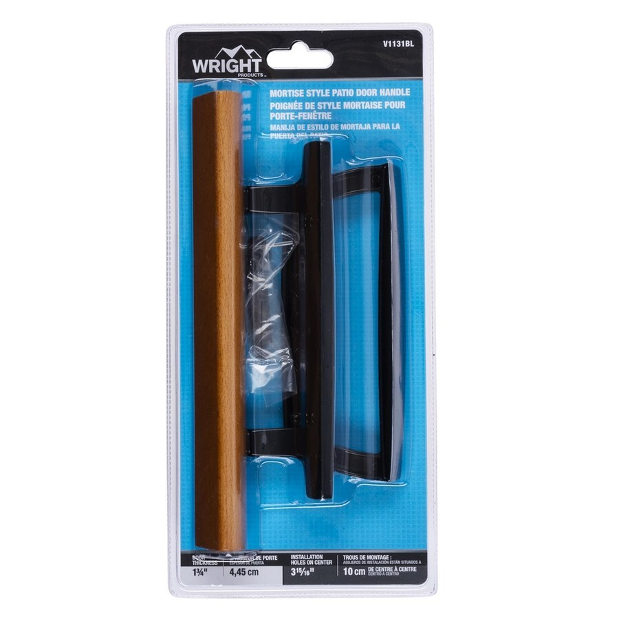 wright products 3 9375 in mortise style sliding patio door handle lowes com